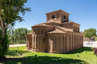 Plain and simple Santiago church in Salamanca Spain