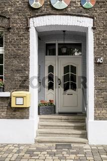 Haustüre im Ortskern von Krudenburg, Hünxe