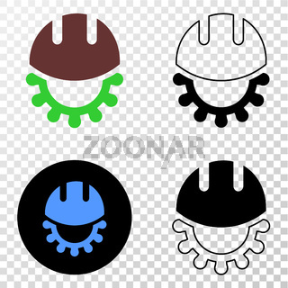 Development Helmet Vector EPS Icon with Contour Version