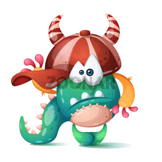 Funny, cute, crazy monster characters.
