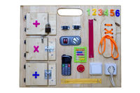 colorful busy board as best toy for kids