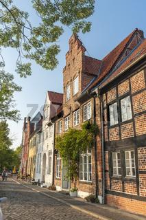 Historische Gebäude in der Straße An der Obertrave in Lübeck