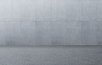 Concrete or cement pattern texture wall with asphalt road floor background .