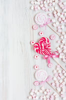 Assorted colored candy background