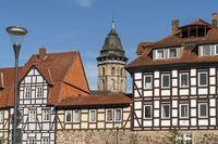 St.-Blasius-Kirche und  Fachwerk in Hann. Münden