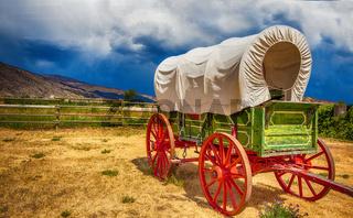 Old wagon in British Columbia Canada