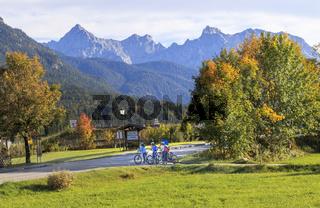 Herbst in der Gemeinde Wallgau