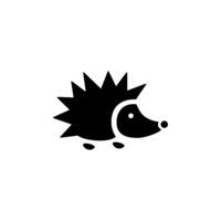 Hedgehog. Isolated icon. Animal vector illustration