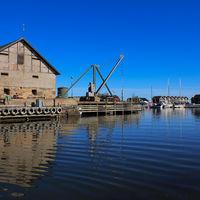 Sunnana Hamn, small harbour in Mellerud, Sweden.