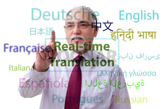 Concept of real time translation from foreign language