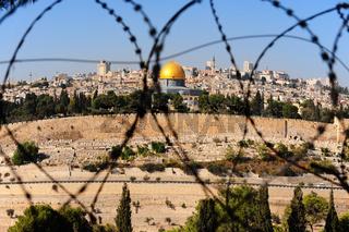 Jerusalem through barbed wire