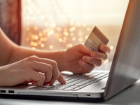 Cristmas online shopping soncept