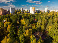 Russia. sleeping area of Moscow surrounded by forests