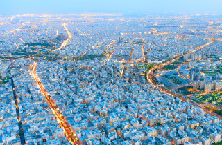 Cityscape of Tehran. Aerial view