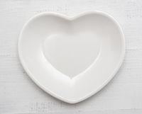 Heart shaped plate
