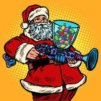 Santa Claus candy machine, Christmas and New year
