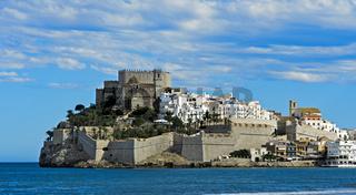 Burg von Peniscola, Peníscola, Costa del Azahar, Provinz Castellon, Spanien