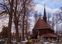 BROUMOV, CZECH REPUBLIC - MARCH 16, 2010: The church of the Virgin Mary in Broumov, Czech Republic.