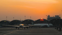 Sunset Hong Kong Airport
