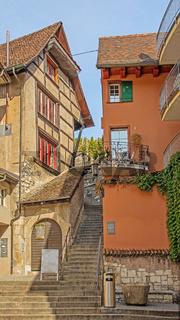 Treppenaufgang zur Festung Munot, Schaffhausen, Schweiz