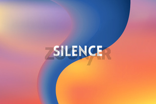 horizontal wide multicolored blurred background. Sunset and sunrise sea neon colors With motivating quote, blurred background vector