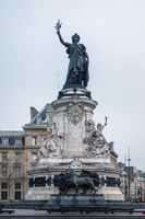Marianne statue at Republic Square, Paris