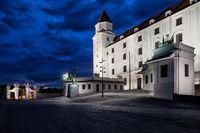 Bratislava Castle By Night in Slovakia