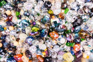 Glass diamond type jewelery beads.