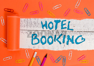 Conceptual hand writing showing Hotel Booking. Business photo text Online Reservations Presidential Suite De Luxe Hospitality.