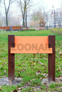 Colored wooden board for information and indications