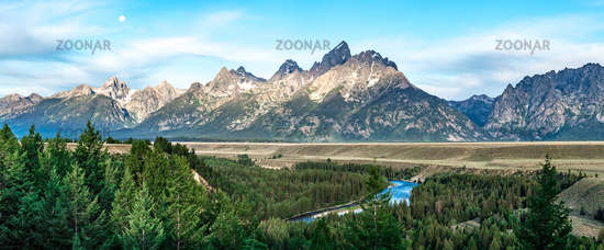 grand teton mountains at snake river overlook