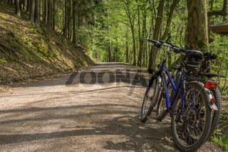 Rast am Fahrradweg