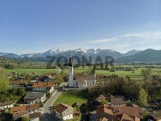 Luftaufnahme Bayerisches Dorf