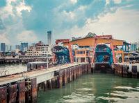 Penang rapid ferry terminal, Malaysia.