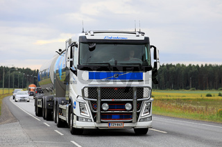 Volvo Milk Tank Truck on Highway