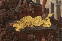 Gold giant in Wat Phra Kaew murals