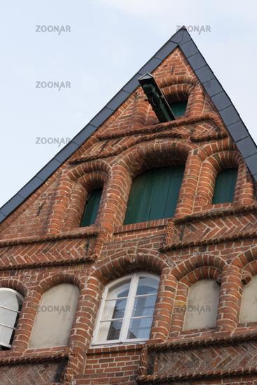 Typical gable of buildings in Lüneburg
