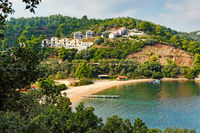 The beach Tzaneria in Skiathos, Greece