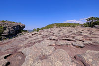 Stone rock formation on top of Morro Do Pai Inacio mountain, Chapada Diamantina National Park, Lencois, Bahia, Brazil