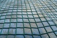 green net over a fabric pattern for backgrounds