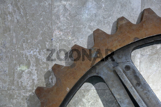 Part of a giant gear