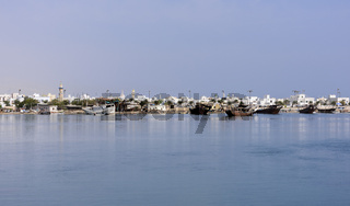 View of the Boat Factory, Ar Rashah (Manufacturing Dhows, wooden ships), Sur, Sultanate of Oman