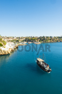 Tourist Cruise Boat Harbor Coast Antalya Turkey