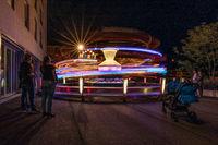 Karussell bei der Kilbi, Kirmes in Malters, Luzern, Schweiz, Europa