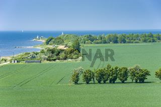 Landschaft am Fehmarnsund auf der Insel Fehmarn