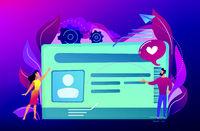 Smart ID card concept vector illustration.