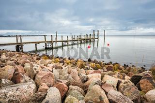 Steg am Wattenmeer auf der Insel Amrum