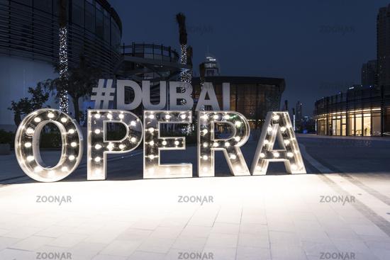 Dubai Opera Tag, United Arab Emirates, Middle East