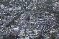 Luftaufnahme der Stadt Siegen