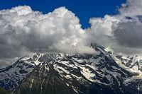 Kumuluswolken, Mont-Blanc-Massiv, Saint-Gervais-les-Bains, Hochsavoyen, Frankreich